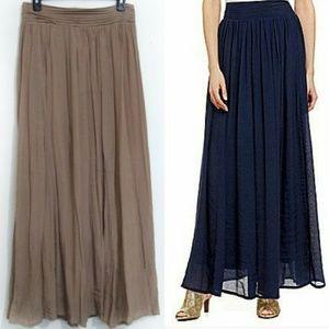 4649b5c137 Nurture by Lamaze Skirts - Nurture Brown Pleated Maxi Skirt Dillards Brand